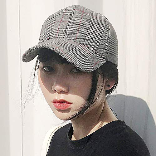 Traditionelle Baseball (LDDENDP Traditionelle gemischte Inspektion farbige Ball Cap Classic Plaid Baseball Cap weibliche Sommer Visier bequem atmungsaktiv Plain Hut Outdoor Street Hipsters, Ente Hut, Mode Sonnenhut, Hip Hop)