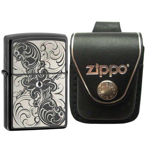 Zippo Gunstock Filigran Ebenholz Kristall Feuerzeug -