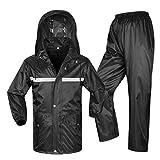 LAXF-Regenjacken Regenanzug für Männer und Frauen Wiederverwendbare Regenkleidung (Regenjacke und Regenhosen Set) Erwachsene Outdoor