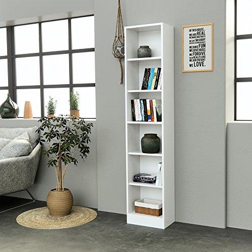 INFINIKIT Haven Bücherregal, schmal - Weiß - 3