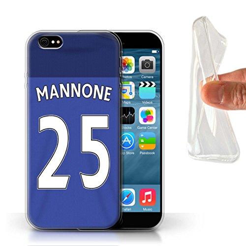 Offiziell Sunderland AFC Hülle / Gel TPU Case für Apple iPhone 6 / Pack 24pcs Muster / SAFC Trikot Home 15/16 Kollektion Mannone