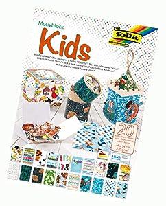Folia 48949 - Bloc Infantil (270 g/m², Aprox. 24 x 34 cm, Hojas Surtidas en 20 diseños Diferentes, Multicolor