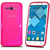 Funda S line tpu para ALCATEL ONE TOUCH POP C9 de color Rosa