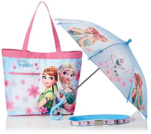 FABTASTICS Disney Die Eiskönigin Frozen Mädchen Accessoires 3er Set (Gürtel, Tasche, Regenschirm), Mehrfarbig (Anna Tasche)