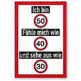 DankeDir! Ich Bin 50 Jahre (Nett), Kunststoff Schild - Geschenk 50. Geburtstag, Geschenkidee Geburtstagsgeschenk Fünzigsten, Geburtstagsdeko/Partydeko / Party Zubehör/Geburtstagskarte