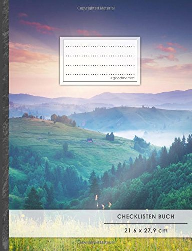 """Checklisten-Buch: DIN A4 • 70+ Seiten, Softcover, Register, \""""Wanderschaft\"""" • #GoodMemos • 18 Checkboxen + Platz für Notizen/Seite (inkl. Register mit Datum uvm.)"""