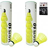 Yonex Mavis 10 Nylon Shuttlecock ( Pack Of 12) WITH SPORTSHOUSE WRIST BAND