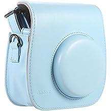 [ Accesorios para Fujifilm Instax ] Andoer® Funda / Caso / Cubierta / Bolso para Fuji Fujifilm Instax de de la PU con Dibujos Animados para Cámara Fujifilm Instax Mini8 Mini8s Bolsa de hombro Individual----azul