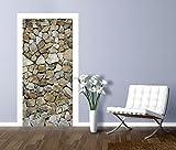 Artland Türbilder selbstklebend aus Vliesstoff oder Vinyl-Folie meepoohyaphoto Braune Steinwand Architektur Architektonische Elemente Fotografie Grau A7MR