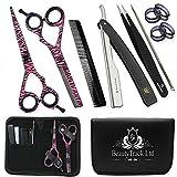 Friseurscheren - Multi Friseursalon Schere, Effilierschere Set -Haarscheren 14 cm mit Fall