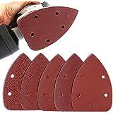 Coceca Set de 50 feuilles abrasives abrasifs pour Ponceuse Grains 40/80/120/180/240