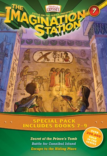 The Imagination Station Special Pack, Books 7-9: Secret of the Prince's Tomb/Battle for Cannibal Island/Escape to the Hiding Place 8 Station