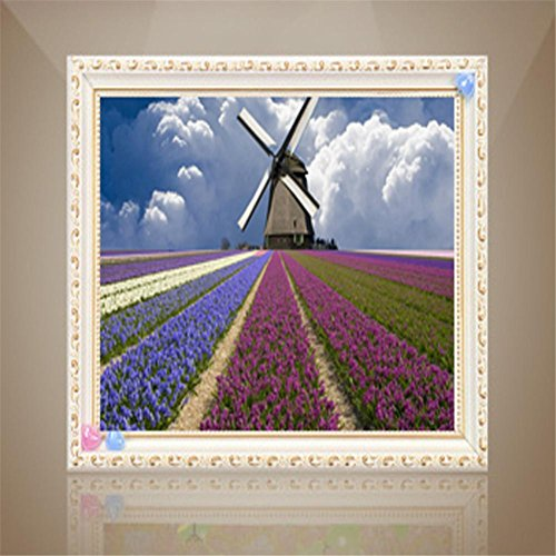 Farbe durch Zahl-Installationssätze Pfau für Hauptdekoration-Blumen Lavendel-Hirten-Wind-Rhinestone-Kreuz , square diamonds ()