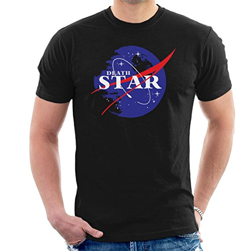 Star Wars Rogue One Death Star Nasa Logo Men's T-Shirt Black