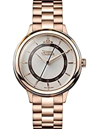 Vivienne Westwood Women's Quartz Watch with White Dial Analogue Display and Rose Gold Stainless Steel Bracelet VV158RSRS