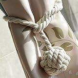 Sumnacon 2 Embrasses à Rideaux, Tricot Rideau corde en...