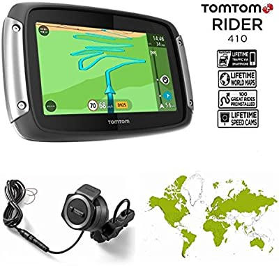 TomTom Rider 410Navegador GPS, color negro