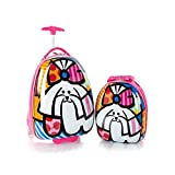51FA97R4n7L. SL160  BEST BUY #1Heys Britto Brand New Exclusive Designed Pink Dog Kids 2 Piece Luggage Set Luggage 18 Inch and Backpack 15 Inch (Pink) price Reviews