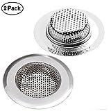 Abflusssieb, 7CM Edelstahl Küchen spüle Dusche Badewanne Abfluss Spüle Filter Sieb, 2 Stück/Sätze Abfluss Sieb