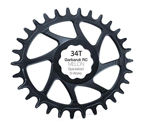 Garbaruk Monocorona 34d specialized s-works melon ovalado negro (Monocorone mtb)/Narrow wide chainring...
