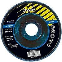 Kivec DL11580INOX - Disco abrasivo de láminas para inoxidable diámetro 115 mm grano 80. Envase de 20 ud.