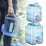 Todaytop 15L 20L Tragbarer Wasserkanister mit Deckel Zapfen - BPA-frei Kunststoff Auto Wasserbehälter Camping Wassertank für Outdoor Home Reise Notfall Caravans Camping Wandern
