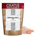 850 g Sal cristalina gruesa / Natural y Ecológica / Del Himalaya | Rica combinación con ajo | Especia esencial de la cocina para muchas recetas como Pescados & Mariscos Salsas Sopas