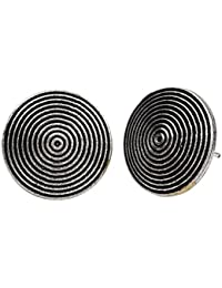 Silver Arts Designer Oxidised Silver Plated Stud Earrings Jewelry SA296