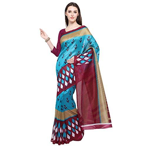 Oomph! Women's Art Silk Sarees Party Wear/Traditional Art Silk/Woven Art Silk Sarees, Blue, Purple
