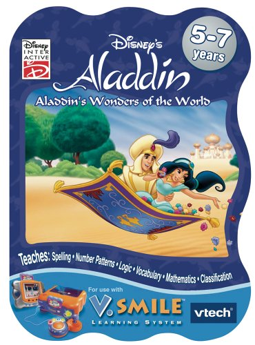 "VTech V.Smile Learning Game: Disney's Aladdin ""Aladdin's Wonders of the World"""