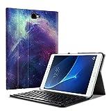 Fintie Bluetooth Tastatur Hülle für Samsung Galaxy Tab A 10,1 Zoll T580N / T585N Tablet - Ultradünn leicht Schutzhülle mit magnetisch Abnehmbarer Drahtloser Deutscher Bluetooth Tastatur, DieGalaxie