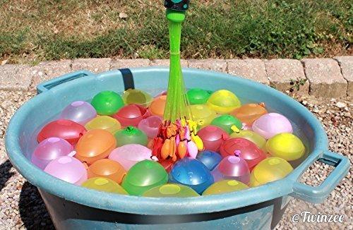 Palloncini magici - Riempie e lega 100 palloncini d'acqua in un minuto - include 100 palloncini auto sigillanti - Crea velocemente un mucchio di bombe d'acqua pronti per la battaglia - facili da usare per bambini - Sopra Giochi D'acqua