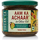 Organica Homemade Mango Pickle Aam Ka Achaar in Olive Oil 300gm