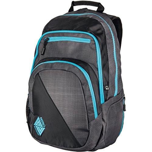 Nitro Stash Rucksack, Schulrucksack, Schoolbag, Daypack, Blur-Blue Trims, 49 x 32 x 22 cm, 29 L,