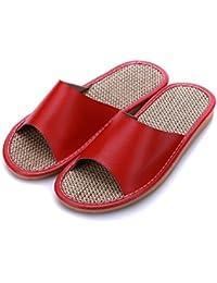 mhgao Home Interior antideslizante hombres cálido Casual zapatillas de algodón, 1, medium