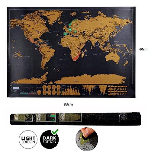 Weltkarte zum Rubbeln Weltkarte world map mit Plektrums schöne Erinnerung für Reisebegeisterte und Globetrotter (82.5 x 59.5 cm) (Coole Plektren Plektren)
