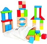 Hape HAP-E0409 Maple 50pc Wooden Block Set - Multicoloured