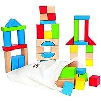 Hape HAP-E0409 Maple 50pc Wooden Block Set