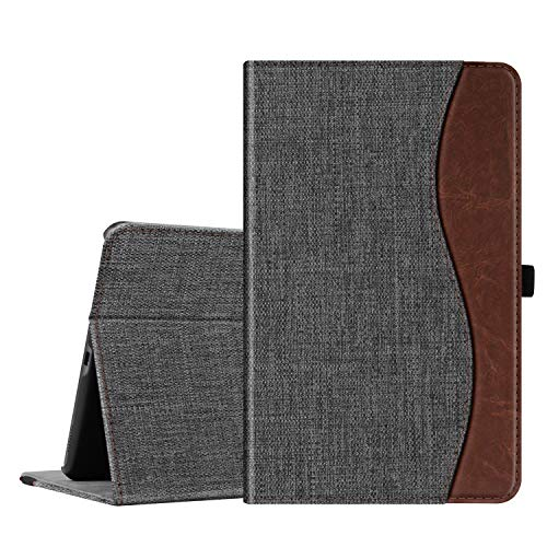 10.1 Book Cover (Fintie Hülle für Samsung Galaxy Tab A 10,1 2019 - Multi-Winkel Betrachtung Kunstleder Schutzhülle mit Dokumentschlitze für Samsung Tab A 10.1 Zoll SM-T510/T515 2019 Tablet, dunkelgrau)