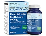 #5: Carbamide Forte Omega 3 Fish Oil 1000mg: Double Strength EPA 330mg + DHA 220mg for Heart, Bones & Joint Health - 60 Softgels