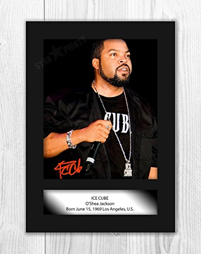 Digital Photo Cube (iFrame Ice Cube Poster Signed Autograph Reproduction Photo A4 Print (unframed))