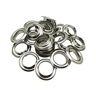 Amanaote 25mm Internal Hole Diameter Silvery Eyelets Grommets with Washer Self Backing Sets by Amanaote