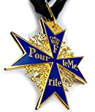 Blauer Max Pour le Merite Orden Abzeichen Preußische deutsche Armee WWI inklusive Ordensband und Schatulle Hochwertige Reproduktion Sammleranfertigung