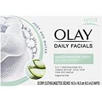 Olay Sensitive 4-In-1 Daily Facial Cloths, 33 Count (Pack Of