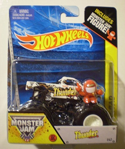 """Thunder 4 X 4 """"2014 New Look"""" Monster Jam Monster Truck 1:64 Scale Off-Road Includes Monster Jam Figure #41 by Hot Wheels"""