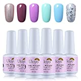UV Nagellack Sets Farben 6pcs Nail UV LED Gel Starter Kit Maniküre Lack Soak Off von Ukiyo