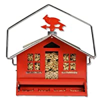 Opus Squirrel Be Gone Bird Feeder Country House with Weathervane