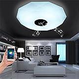 XUE La luz de techo elegante de la música LED de Bluetooth se enciende la luz redonda caliente del color luz principal del dormitorio luz del teléfono móvil APP los niños se encienden luces de la historia, 400 * 100m m