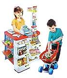 Supermarkt Kaufladen Einkaufsladen Kinder mit Kasse Scanner Zubehör #1501
