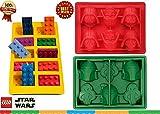 Eiswürfelform Backform Bausteine Lego Männchen Minifigur Star Wars, 3 verschiedene Formen im Set